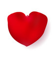 red shape of a heart rose petal vector image vector image
