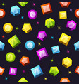 seamless pattern with colorful gemstones vector image vector image