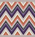 seamless tribal zig zag textured ethnic pattern vector image