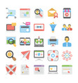 seo and digital marketing colored icons 7 vector image vector image