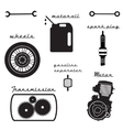 set of vintage parts for the bike vector image vector image