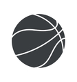 silhouette basket ball sport symbol icon vector image vector image