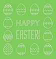 square frame made of linear easter eggs vector image vector image