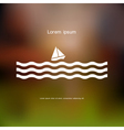 Stylized Sailboat and waves vector image vector image