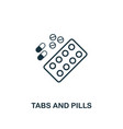tabs and pills icon premium style design from vector image