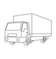 truck with awningcar single icon in outline style vector image vector image