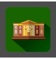 Two storey public building icon flat style vector image