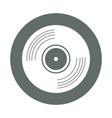 vinyl round icon vector image