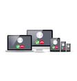 voip voice over ip smartphone laptop vector image vector image