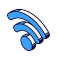 wifi isometric icon wireless internet technology vector image