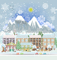 winter city scenery vector image vector image