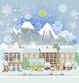 winter city scenery vector image vector image