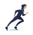 young sportsman running in vector image vector image