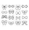 Beautiful Bows Elements Collection vector image