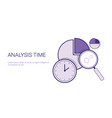 analysis time concept schedule planning management vector image