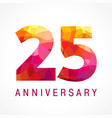25 anniversary red logo vector image vector image