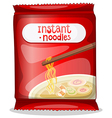 A pack of an instant noodles vector image