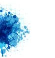 Abstract Background With Blue Blob vector image vector image