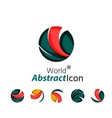 Abstract geometric business corporate emblem - vector image