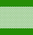 abstract pattern green net on white vector image vector image