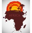 africa savannah fauna and flora vector image vector image