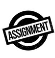 assignment rubber stamp vector image vector image
