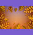 background template autumn leaves vector image vector image