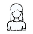 blurred silhouette faceless half body woman with vector image vector image