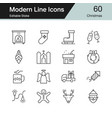 christmas decoration icons modern line design set vector image vector image
