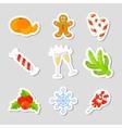 Christmas Icon Set Collection cartoon New vector image vector image
