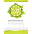 city go green flyer template vector image