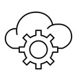 cloud storage settings thin line icon cloud with vector image