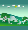 concept of eco with nature and building vector image vector image
