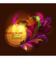 dark glowing floral ornament vector image vector image