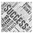 definition of success Word Cloud Concept vector image vector image