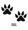 dog step icon simple style vector image vector image