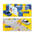 driving school banner templates concept vector image