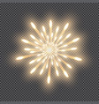 festive firework bursting salute of gold color vector image