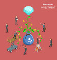 financial investment flat isometric concept vector image vector image