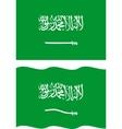 Flat and waving Saudi Arabia Flag vector image
