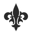 fleur de lis black symbol royal icon vector image