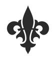 fleur de lis black symbol royal icon vector image vector image