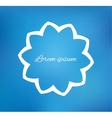 Flower on blurred background vector image vector image
