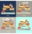Four types of weather vector image vector image