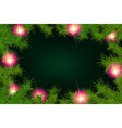 frame fir branches and lights vector image