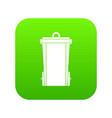 garbage bin icon digital green vector image vector image