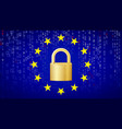 gdpr background padlock security vector image