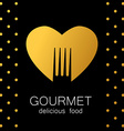 gourmet delicious food vector image