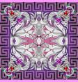 greek panel pattern floral background vector image