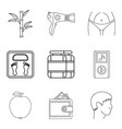 hair care icons set outline style vector image vector image